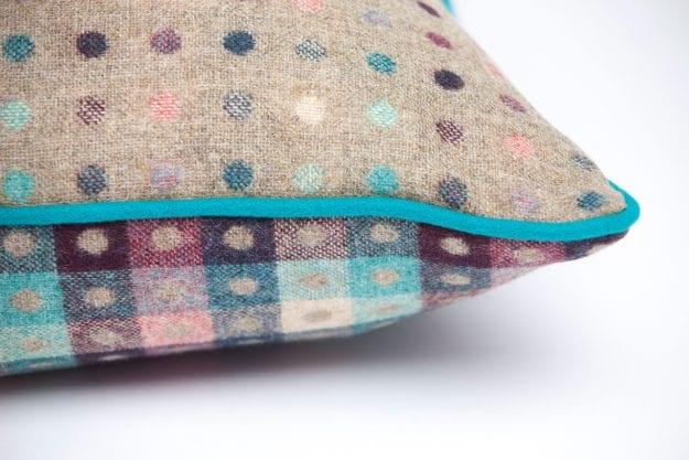 Luxury Pure Wool Cushion in Fawn Multispot