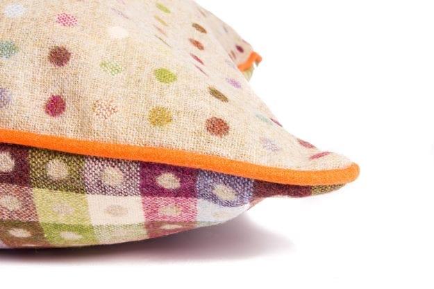 Luxury Pure Wool Cushion in Pistachio Multispot
