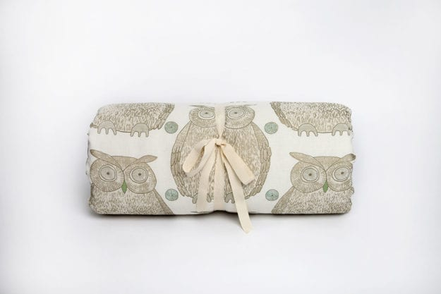 Tawny Owl Cotton and Linen Roll in Cream