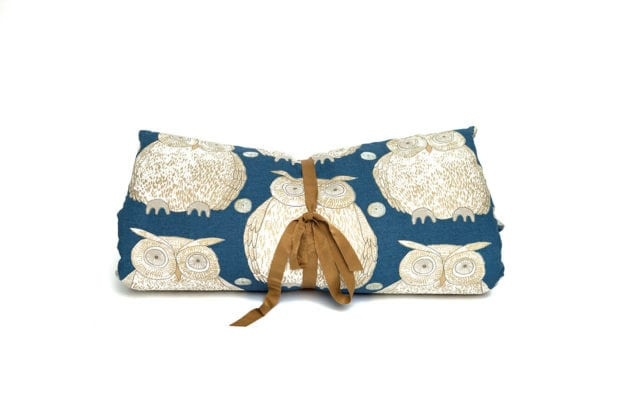 Tawny Owl Cotton and Linen Roll in Navy