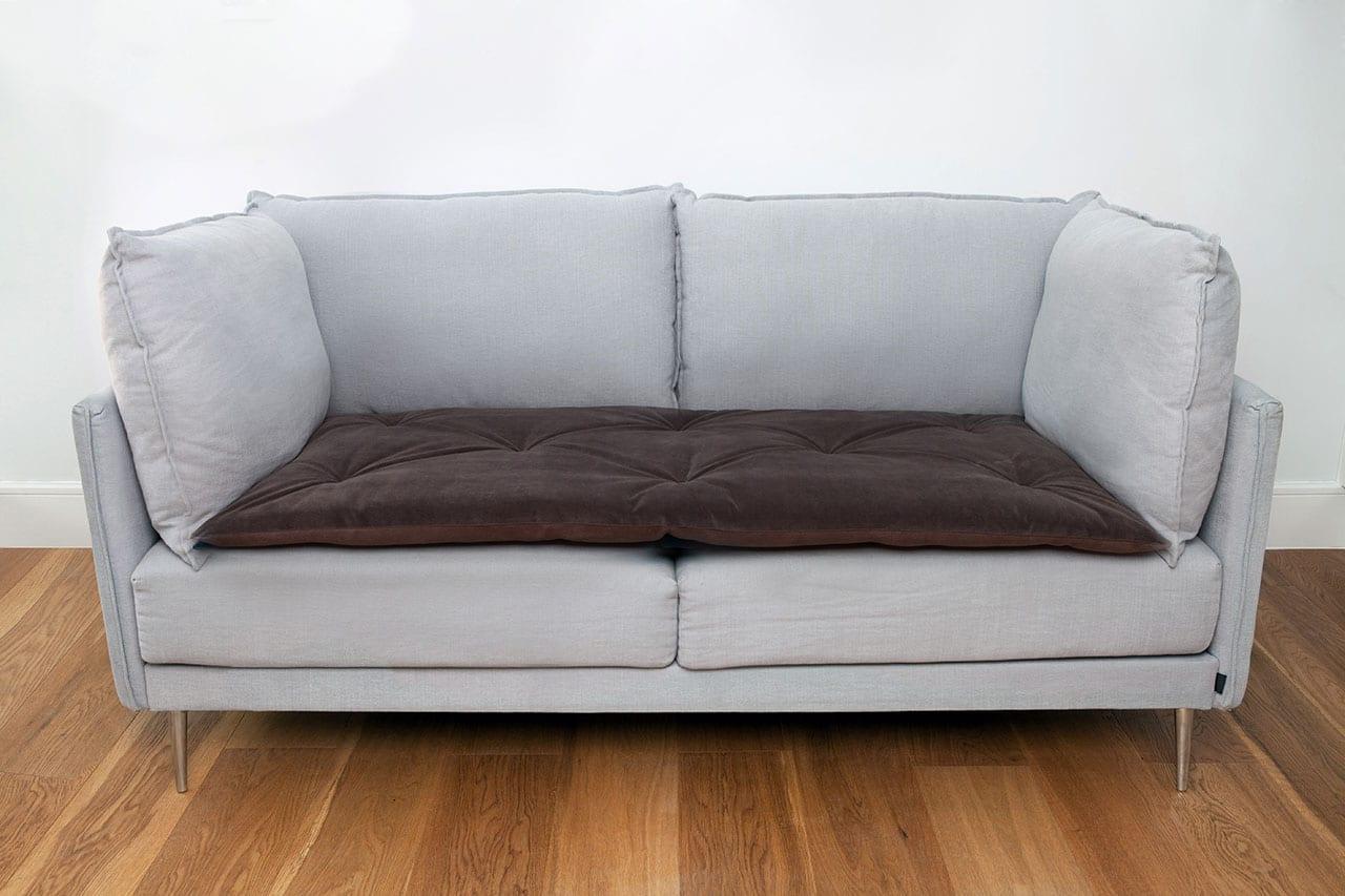plush velvet sofa topper in moleskin the lounging hound. Black Bedroom Furniture Sets. Home Design Ideas
