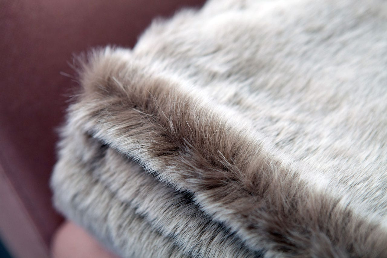 Faux Fur Throw in Koala - The Lounging Hound