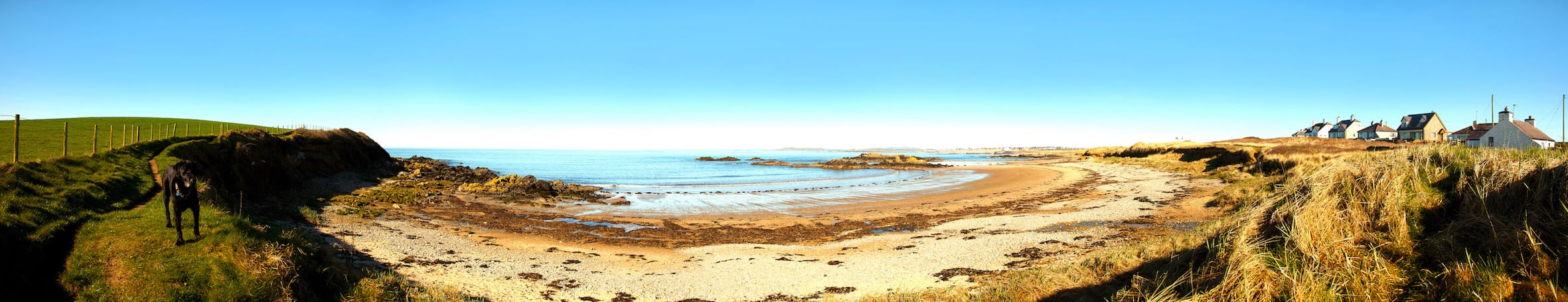 Cable Bay and the Irish sea at Rhosneiger Isle of Anglesey North Wales