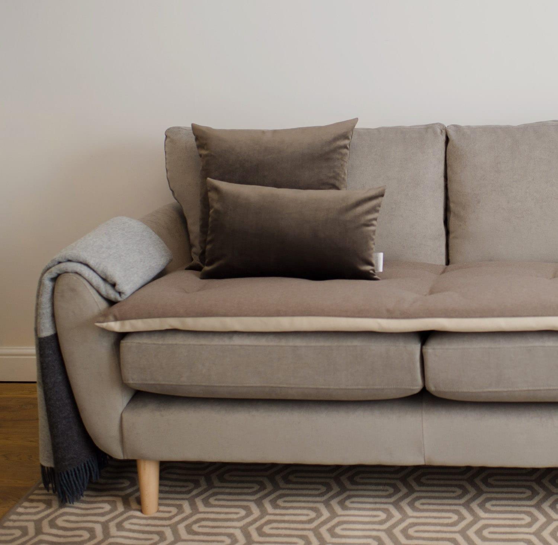 Luxury Wool Sofa Topper In Earth. ; 