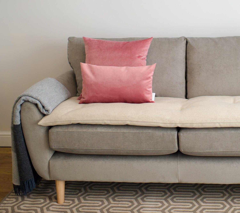 Luxury Wool Sofa Topper In Ecru. ; 
