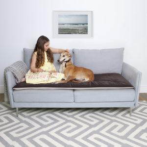 Mole velvet sofa topper