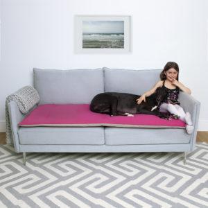 Peony wool sofa topper